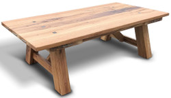 Casa Padrino solid wood coffee table - Different Colors & Sizes - Rustic oak wood living room table - Living Room Furniture