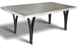 Casa Padrino luxury dining table - Different Colors & Sizes - Kitchen table with solid oak table top and metal legs - Rustic Dining Room Furniture