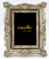 Pompöös by Casa Padrino Baroque picture frame silver / gold antique style by Harald Glööckler - photo frame