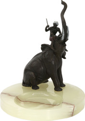Casa Padrino luxury art nouveau marble shelf with bronze elephant - luxury decoration