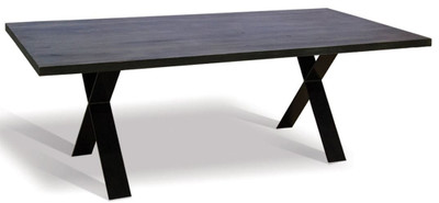 Casa Padrino luxury solid wood dining table - Different Sizes & Colors - Kitchen table with rustic oak table top and metal legs - Dining Room Table – Bild 1