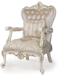 Casa Padrino luxury baroque armchair multicolor / white / gold 88 x 88 x H. 115 cm - Living room armchair with decorative pillow - Living Room Furniture in Baroque Style
