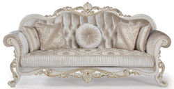 Casa Padrino luxury baroque sofa multicolor / white / gold 227 x 90 x H. 118 cm - Living room sofa with decorative pillows - Living Room Furniture in Baroque Style