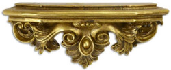 Casa Padrino baroque resin wall console antique gold 51.5 x 17.5 x H. 22.3 cm - Wall Decoration in Baroque Style