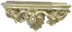 Casa Padrino baroque resin wall console silver 51.5 x 17.5 x H. 22.3 cm - Wall Decoration in Baroque Style