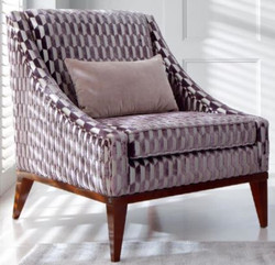 Casa Padrino luxury art deco living room armchair purple / silver / brown 75 x 86 x H. 89 cm - Luxury Collection