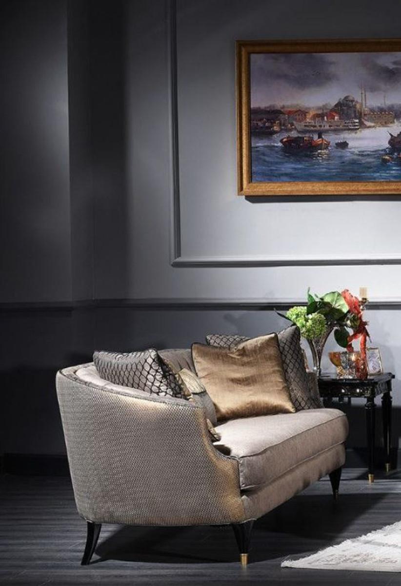 Casa Padrino Luxus Barock Sofa Grau / Schwarz / Gold 231 x 94 x H. 83 cm - Barock Wohnzimmermöbel 4