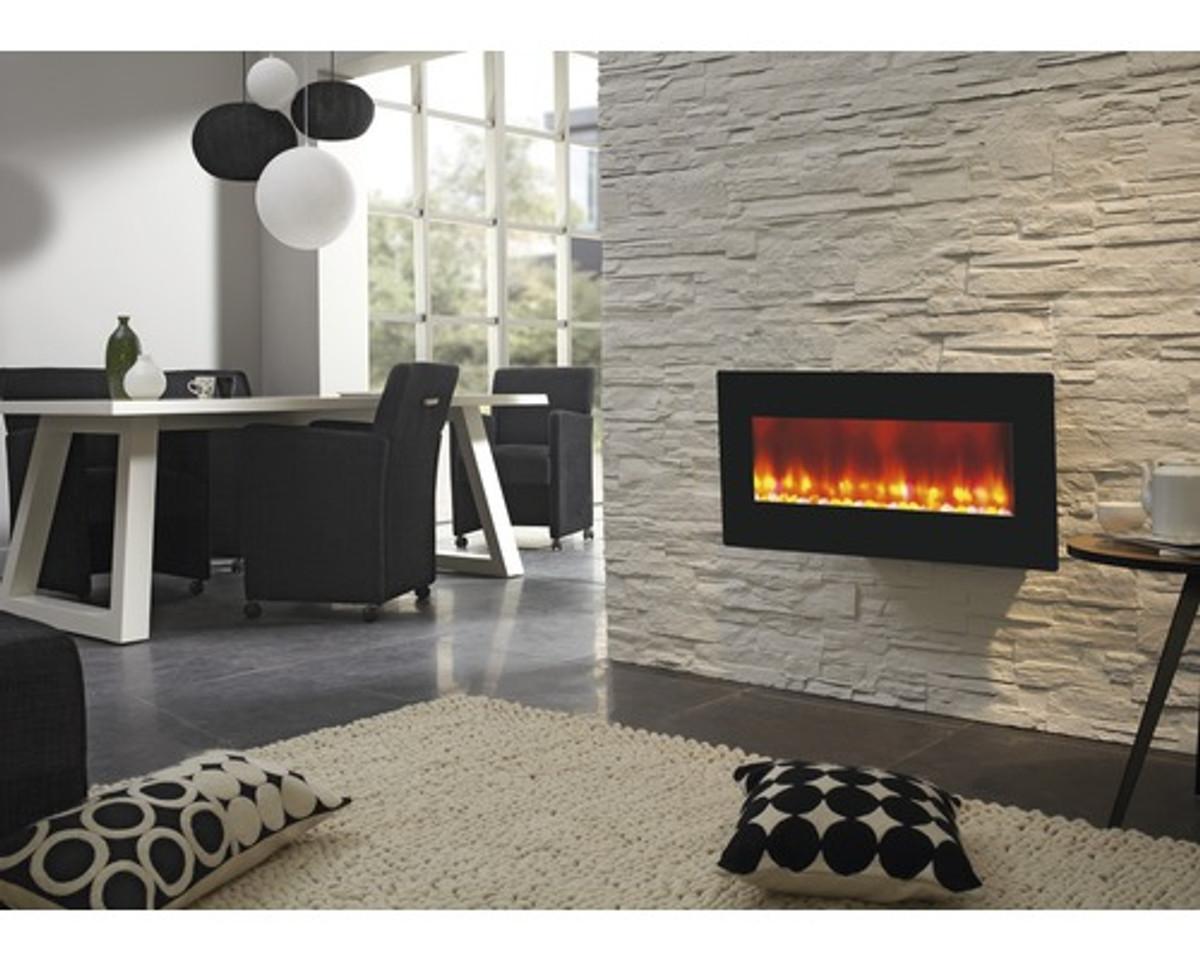 Casa Padrino Luxus Led Wandkamin Schwarz 98 X 45 Cm Elekro Wand Kamin Barockgrosshandel De