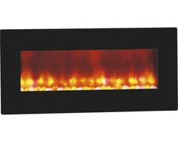 Casa Padrino luxury LED wall fireplace black 98 x 45 cm - electric wall fireplace