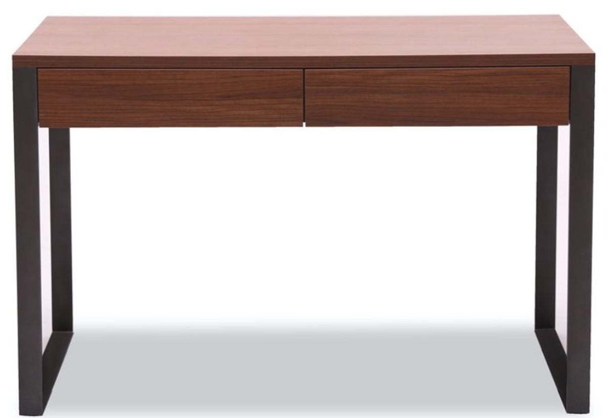 Casa Padrino Luxus Schreibtisch 120 x 60 x H. 78 cm - Verschiedene Farben - Moderner Schreibtisch mit 2 Schubladen und pulverbeschichteten Stahlbeinen 2
