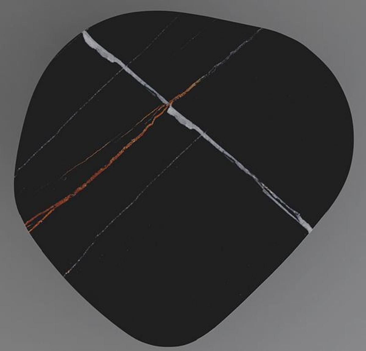Casa Padrino Designer Couchtisch 109 x 100 x H. 37 cm - Verschiedene Farben - Wohnzimmertisch mit edler Glaskeramik Tischplatte in Marmoroptik - Luxus Wohnzimmer Möbel 3