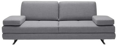Casa Padrino Luxus Wohnzimmer Sofa mit umklappbaren Armlehnen Grau 218 x 108 x H. 81 cm - Luxus Möbel