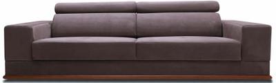 Casa Padrino Luxus Samt Sofa mit klappbaren Kopf & Nackenstützen Lila / Braun 240 x 110 x H. 67 cm - Modernes Schlafsofa - Wohnzimmermöbel