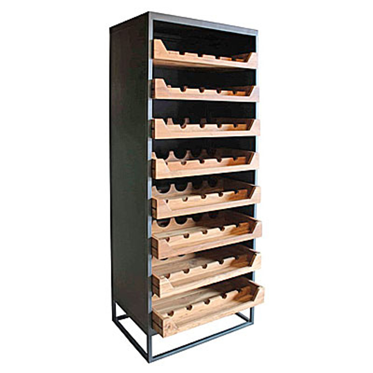 Casa Padrino Industrial Look Weinschrank 67x45x183cm Metall Holz Weinregal Barockgrosshandel De