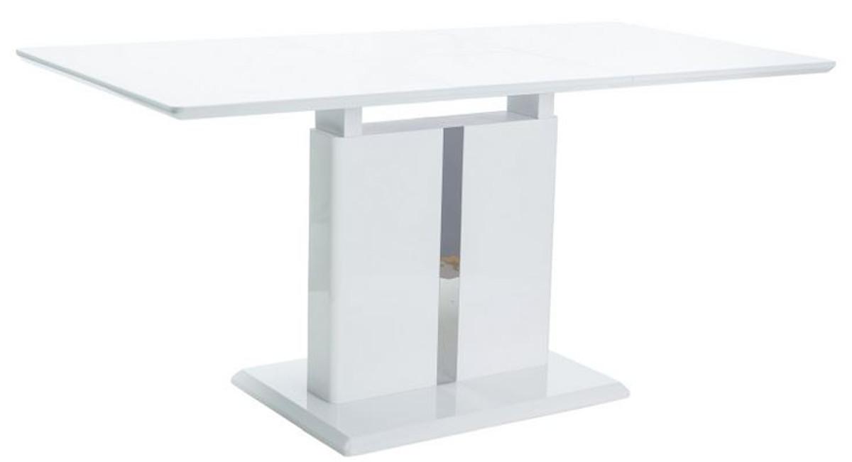 Casa Padrino Tavolo Da Pranzo Di Design Bianco 110 150 X 75 X A 76 Cm Tavolo Da Cucina Allungabile Mobili Da Pranzo Di Design Casa Padrino De