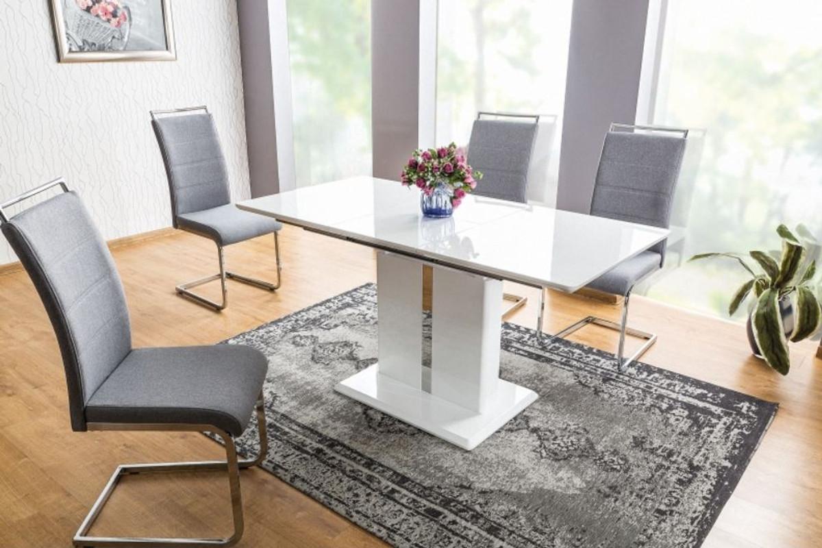 Casa Padrino designer dining table white 9 9 x 9 x H. 9 cm    Extendable kitchen table   Designer Dining Room Furniture