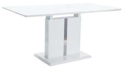 Casa Padrino designer dining table white 110-150 x 75 x H. 76 cm - Extendable kitchen table - Designer Dining Room Furniture – Bild 1