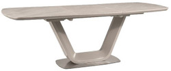 Casa Padrino luxury ceramic dining table gray / silver 160-220 x 90 x H. 76 cm - Extendable Kitchen Table
