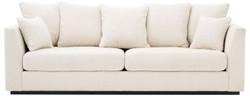Casa Padrino luxury living room sofa cream / black 255 x 100 x H. 90 cm - Couch with 7 pillows - Luxury Quality