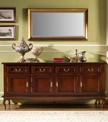 Casa Padrino luxury baroque chest of drawers with 4 doors and 4 drawers 200 x 50 x H 90 cm - sideboard furniture interior