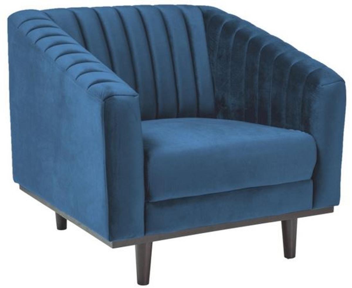 Casa Padrino Luxus Wohnzimmer Sessel Grau Schwarz 92 x 85 x H 78 cm Wohnzimmermoebel 4 JPG