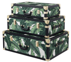 Casa Padrino luxury suitcase set green / white / black / gold - Vintage decorative suitcase in retro look - Luxury Accessories