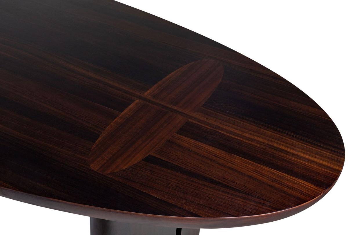 Casa Padrino luxury eucalyptus veneer dining table dark brown ...