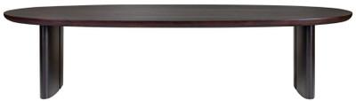 Casa Padrino luxury eucalyptus veneer dining table dark brown - Various Sizes - Oval kitchen table - Solid wood dining table - Luxury Dining Room Furniture – Bild 1