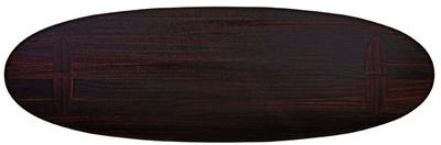 Casa Padrino luxury eucalyptus veneer dining table dark brown - Various Sizes - Oval kitchen table - Solid wood dining table - Luxury Dining Room Furniture – Bild 3