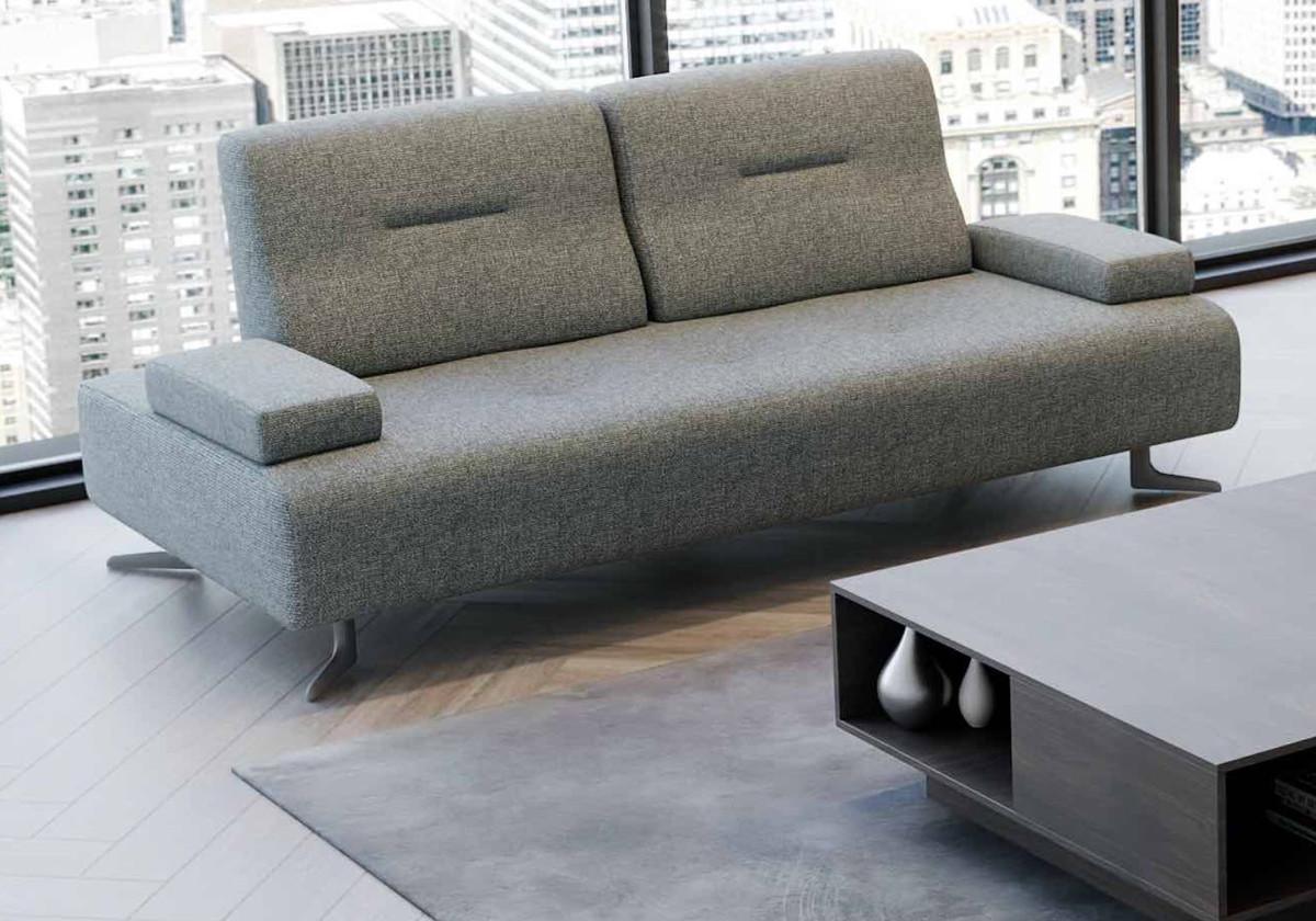 Casa Padrino Luxury Sofa With Adjustable Backrests Gray Various Sizes Modern Living Room Sofa Luxury Furniture