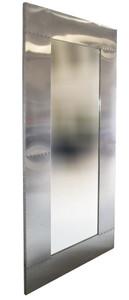 Casa Padrino Flugzeug Design Auminium Wandspiegel 200 x 80 - Vintage Flieger Möbel Metall Spiegel – Bild 1