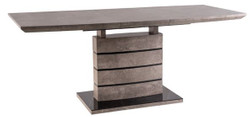 Casa Padrino luxury dining table gray / black 140-180 x 80 x H. 76 cm - Extendable Dining Room Table in Concrete Look