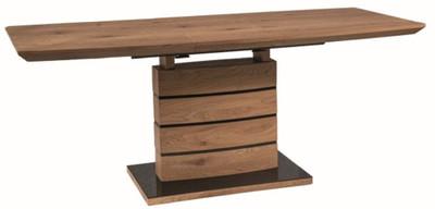Casa Padrino luxury oak dining table brown / black 140-180 x 80 x H. 76 cm - Extendable dining room table - Dining Room Furniture – Bild