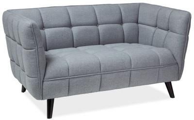 Casa Padrino luxury sofa gray / black 142 x 85 x H. 78 cm - Living room couch - Luxury Furniture