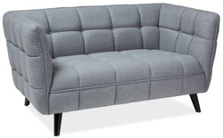 Casa Padrino luxury sofa gray / black 142 x 85 x H. 78 cm - Living room couch - Luxury Furniture 1