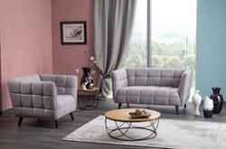 Casa Padrino luxury sofa gray / black 142 x 85 x H. 78 cm - Living room couch - Luxury Furniture 2
