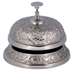 Casa Padrino antique style table bell silver Ø 12 x H. 14 cm - Aluminum Table Bell - Service Bell - Hotel & Gastronomy Accessories