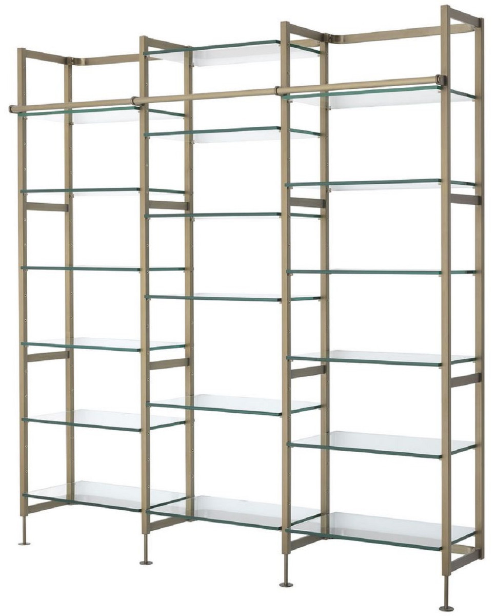 Casa Padrino Luxury Shelf Cabinet Brass 222 5 X 51 X H 238 Cm