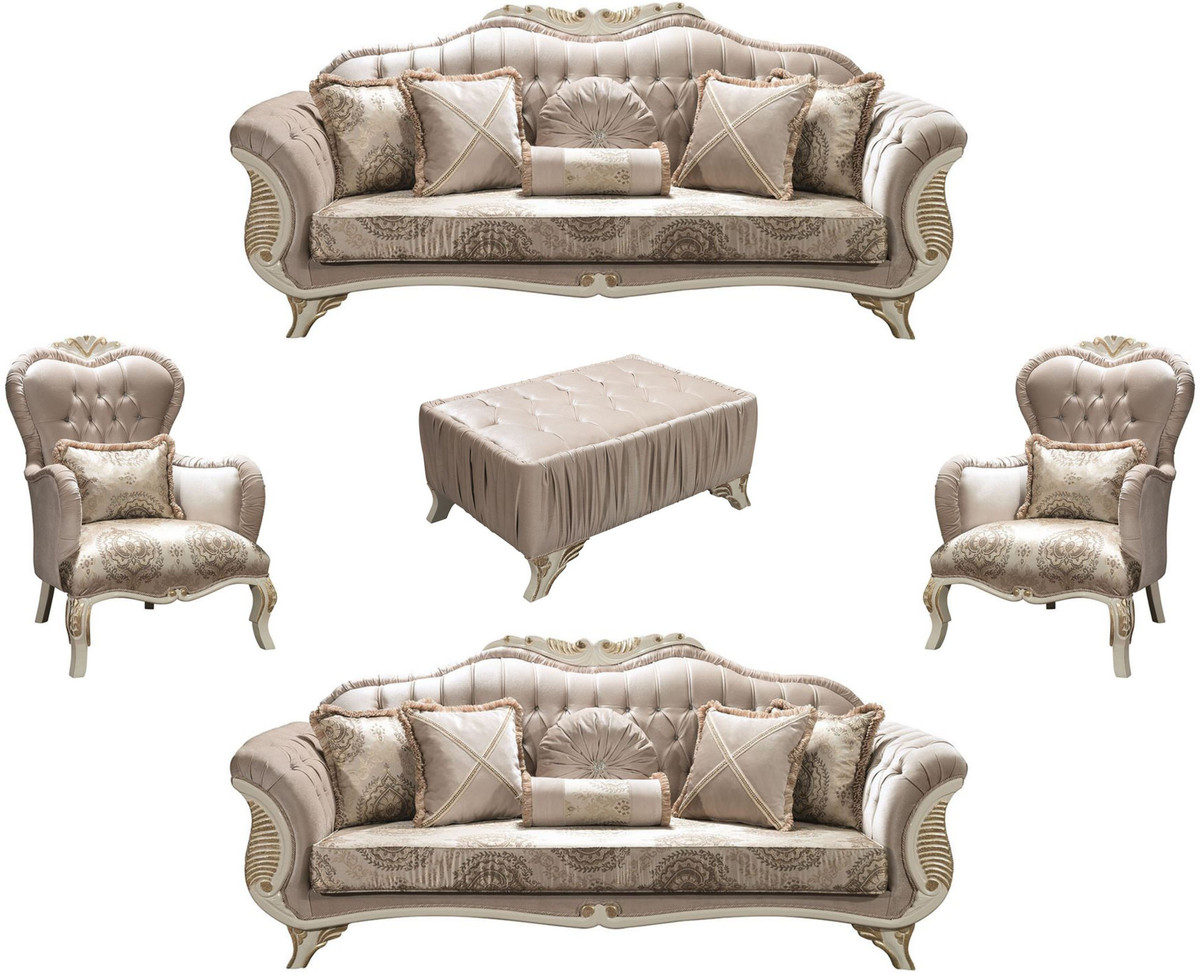 Casa Padrino Luxury Baroque Living Room, Gray Living Room Sets