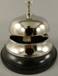 Casa Padrino table bell silver / black Ø 12 x H. 10 cm - Table Bell - Service Bell - Hotel & Gastronomy Accessories