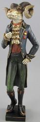 Casa Padrino decoration figure lord ram multicolor 11 x 7 x H. 36 cm - Resin Figure - Decoration Accessories