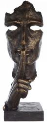 Casa Padrino designer resin sculpture face bronze / gray 13 x 13 x H. 39 cm - Decoration figure - Desk decoration - Decoration accessories