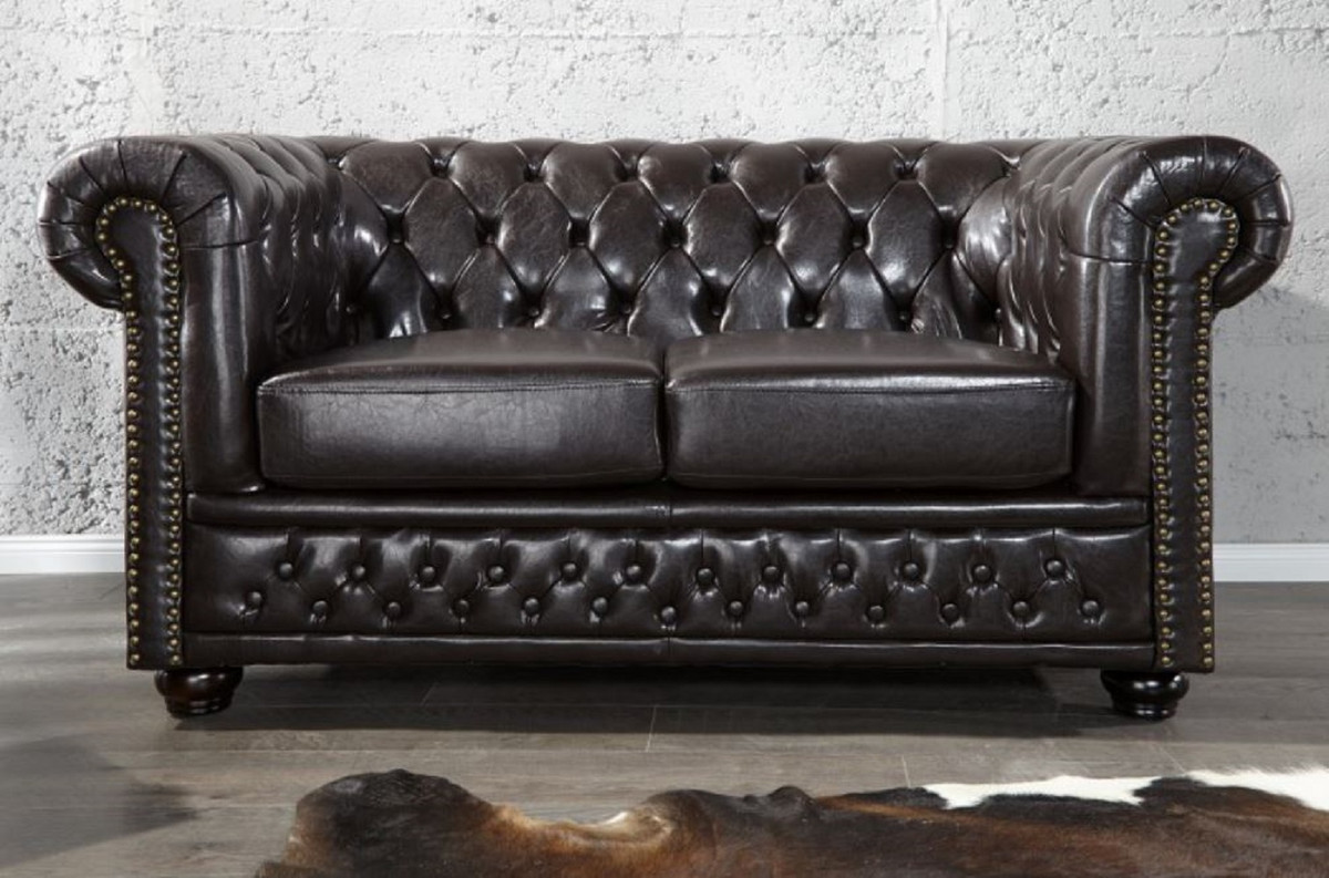 Luxury Chesterfield Genuine Leather Furniture By Casa Padrino High Quality Armchairs Sofas Chairs Stools And Many More Chesterfield Leather Furniture