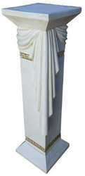 Casa Padrino baroque pillar white H. 99 cm - Noble decorative pillar - Decorative Accessories