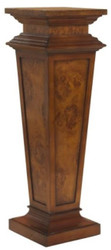 Casa Padrino luxury baroque pillar brown 33 x 33 x H. 105 cm - Noble decorative pillar made of high quality burl wood - Baroque Decorative Accessories