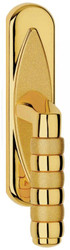 Casa Padrino Luxus Messing Fensterklinken Set Gold 4 x H. 18,5 cm - Luxus Qualität - Made in Italy