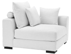 Casa Padrino luxury corner sofa white / black 108 x 108 x H. 90 cm - Extendable living room sofa with pillows - Luxury Furniture