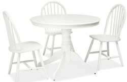 Casa Padrino country style dining table white Ø 100 x H. 75 cm - Round kitchen table - Country Style Dining Room Furniture