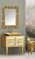 Casa Padrino luxury baroque bathroom set gold - Washstand with Sink and Wall Mirror - Baroque Bathroom Furniture - Noble and Ornate