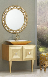 Casa Padrino luxury baroque bathroom set gold - Washstand with Sink and Wall Mirror - Noble and Ornate - Luxury Quality